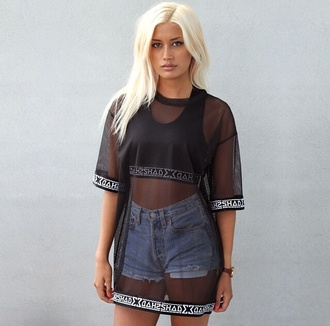 urban outfitters summer outfits streetwear black t-shirt underwear
