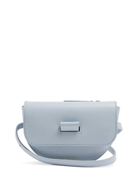 Wandler belt bag bag leather light blue light blue
