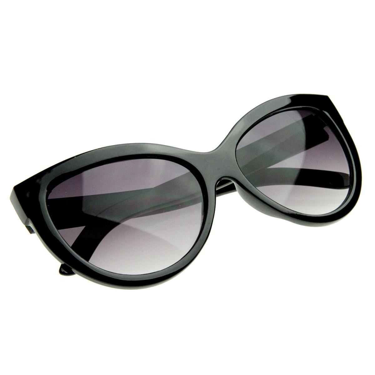 Womens designer high temple modern cat eye sunglasses 8217