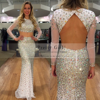 luxurious crystal soiree dress 2018
