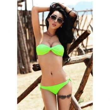 Sexy vivos de las mujeres verdes fluorescentes Set de baño bikini para Vender - La Tienda En Online IGOGO.ES