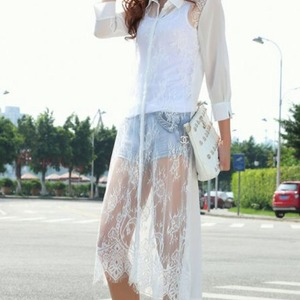 Beautiful crochet lace long kimono/cardigan
