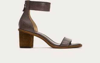 shoes heels stacked heels sandals stacked wood heel