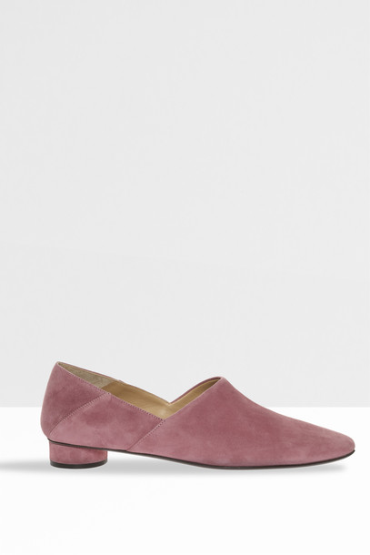 The Row Women`s Noelle Stacked Slippers in pink