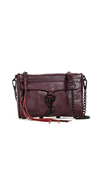 Rebecca Minkoff cross mini bag cherry dark
