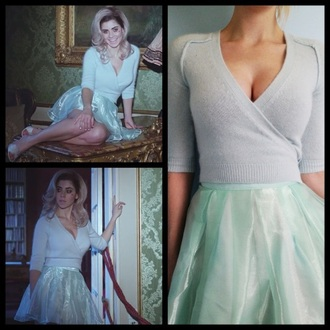 skirt marina and the diamonds mint blue transparent aesthetic