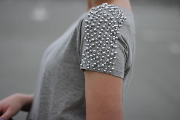 t-shirt gris bille