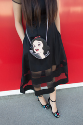 kelsey bang,blogger,dress,sunglasses,shoes,bag,black dress,midi dress,crossbody bag,embellished shoes,pumps