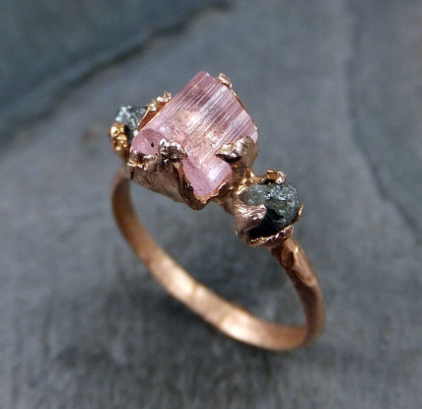 jewels vintage rings and tings raw stone statement ring
