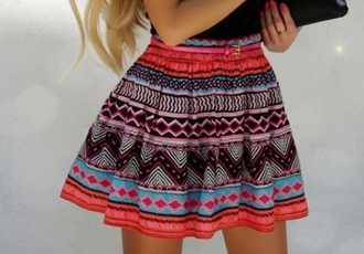 skirt pattern tribal pattern colorful aztec