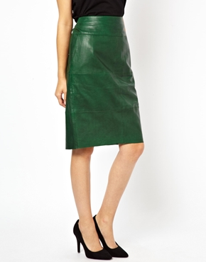 Urbancode | Urbancode Leather Pencil Skirt at ASOS