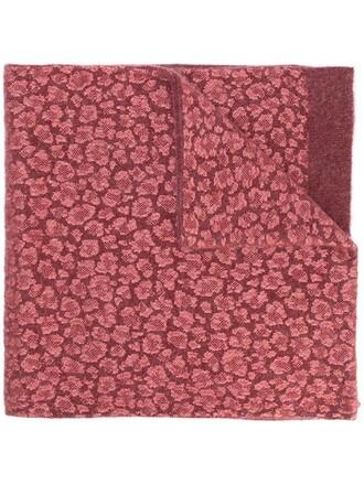 women spandex scarf wool purple pink pattern