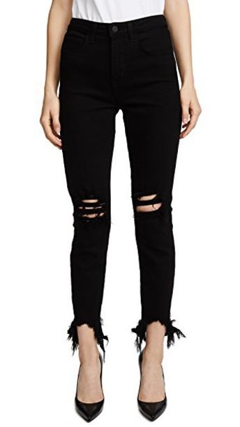 L'Agence jeans skinny jeans high black