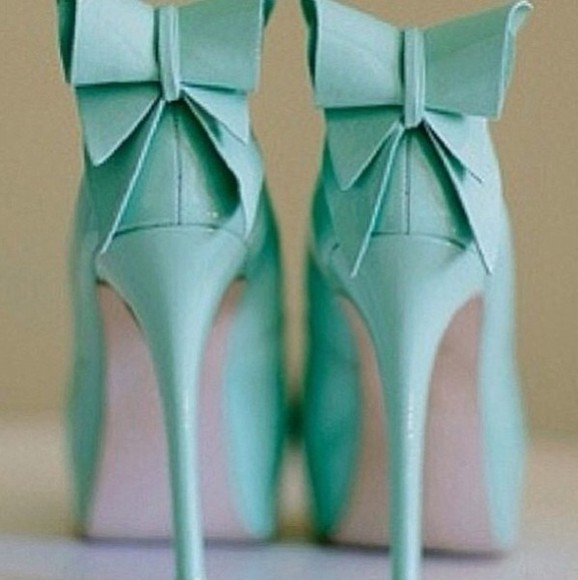 mint shoes mint green shoes bows bow shoes