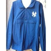 jacket,windbreaker,90s style,90,style,90s jacket,streetwear,streetstyle,yankees,blue,dope
