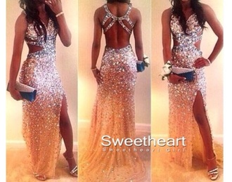 dress nude dress jewels prom dress
