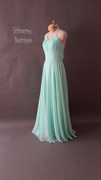 dress clothings bridesmaid chiffon wedding clothes wedding dress mini dress long dress t-shirt mint dress