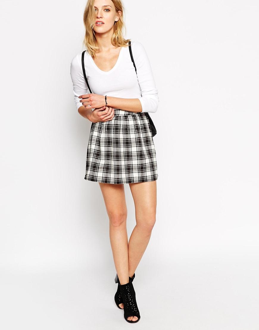 May Plaid Checked Mini Skirt at asos.com