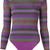 Cecilia Prado - knit bodysuit - women - Acrylic/Lurex/Viscose - P, Pink/Purple, Acrylic/Lurex/Viscose