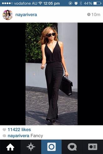 dress black maxi dress black maxi dress naya rivera glasses