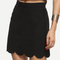 Black scalloped hem a-line skirt -shein(sheinside)