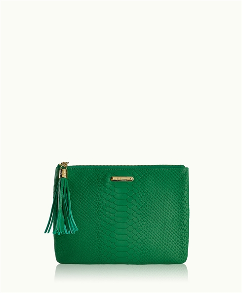 Kelly Green All in One Bag | Embossed Python Leather | GiGi New York