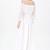 White Long Sleeve Bead Pleated Chiffon Dress - Sheinside.com