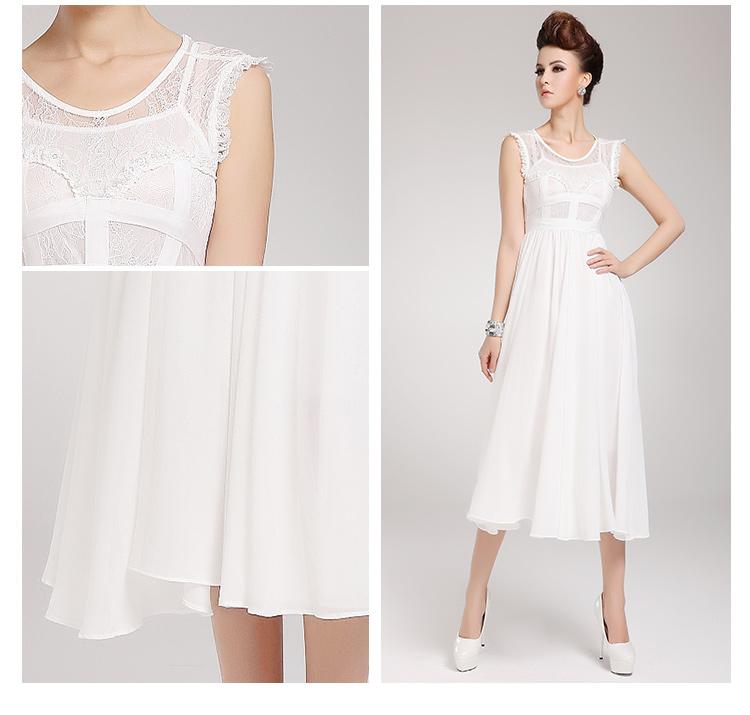Vintage Elegant Lace Evening Formal Prom Party Chiffon Long Dress ...