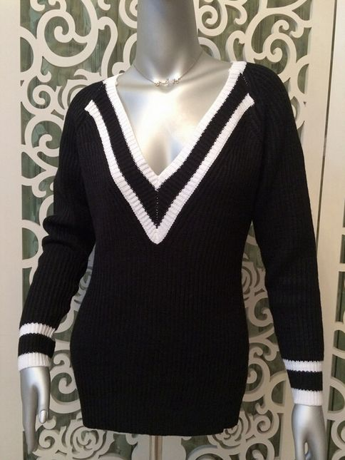 Deep v pullover knit sweater · love, fashion struck ·