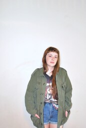 jacket,army green jacket,grunge,hippie,90s style,army green