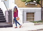love of cloth,blogger,jeans,jewels,felt hat,ripped jeans,knitwear,bag