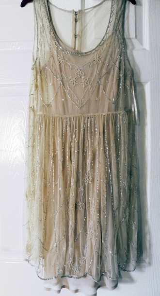 dress nude dress nude lace dress glitter dress silver dress silver sequin dress
