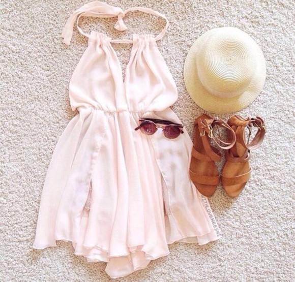beige dress chiffon dress chiffon peach prom. baige aztec tumblr outfit pink dress style