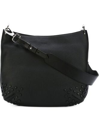 studded bag shoulder bag black