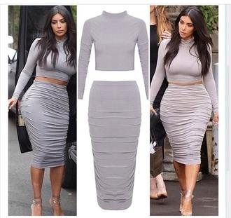 skirt kim kardashian dress top