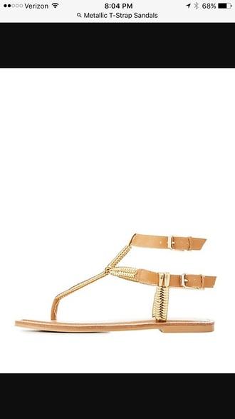 shoes sandals metallic shoes gold shoes