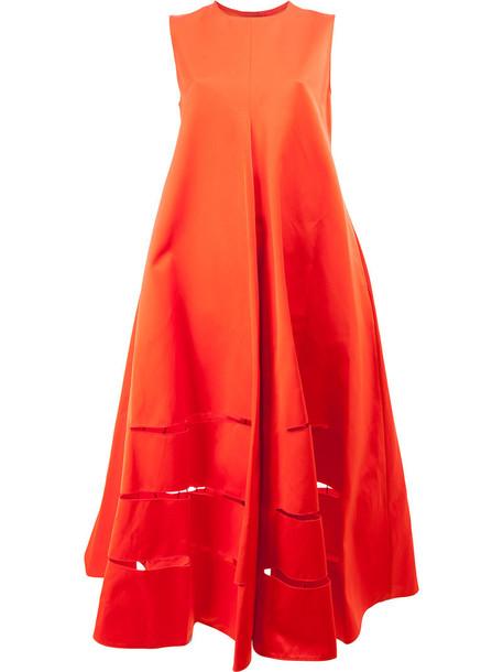 MAISON RABIH KAYROUZ dress shift dress oversized women cotton red