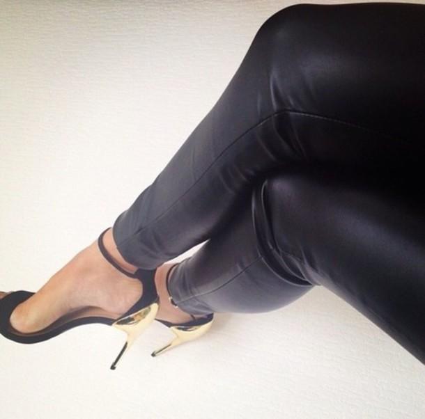 shoes gold heel strappy heels black black & gold fierce open toes