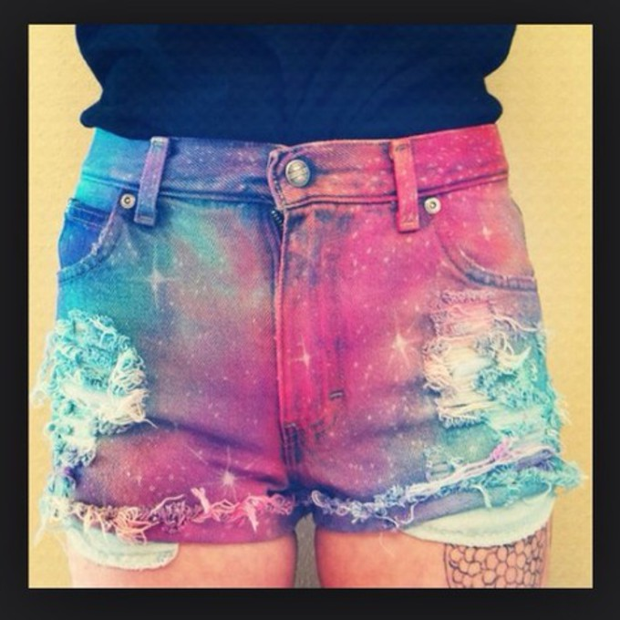 shorts galaxy ripped shorts distressed high waisted jeans distressed