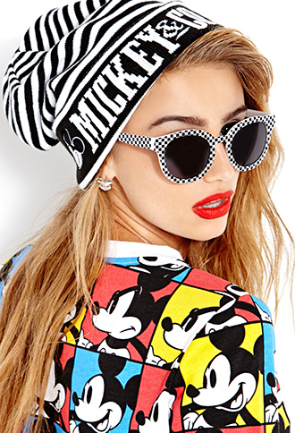 Standout Stripes Mickey Mouse Beanie | FOREVER21 - 2000065915