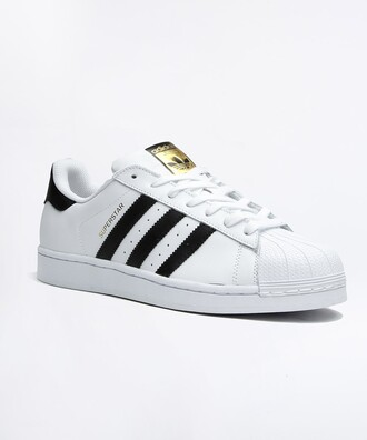 shoes adidas adidas superstar 2 shoes white black gold