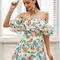 Floral off the shoulder ruffle playsit