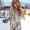 Uk 8-24 boho women floral loose beach long kimono jacket sexy maxi dress kaftan