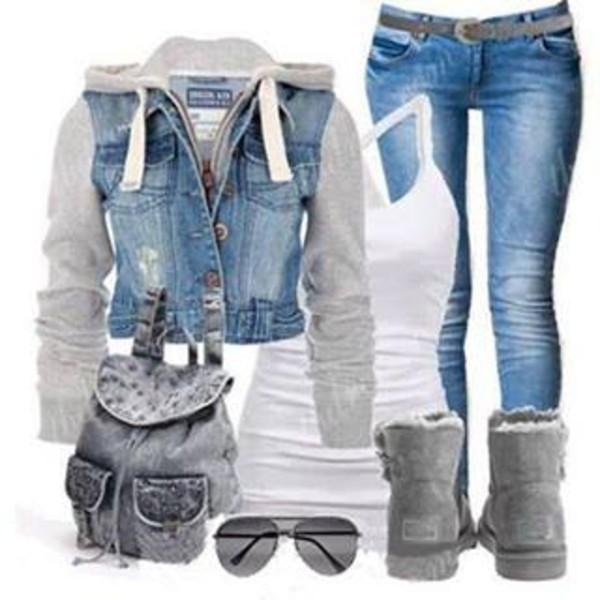 jacket tomboy skater jeans