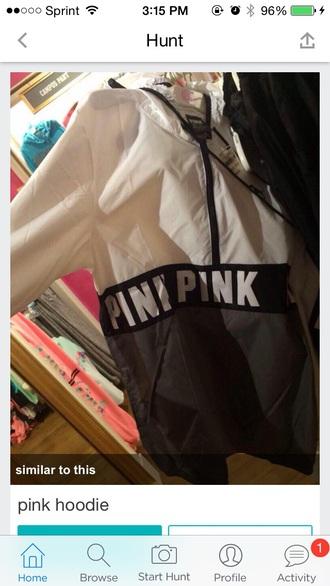 coat pink coat jacket hoodie rain coat victoria sectet
