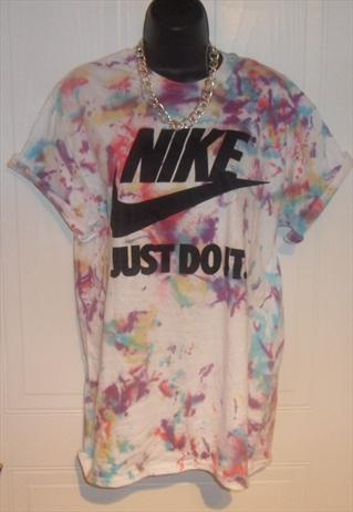 UNISEX diy costumised nike tie dye acid wash t shirt sz M | mysticclothing | ASOS Marketplace