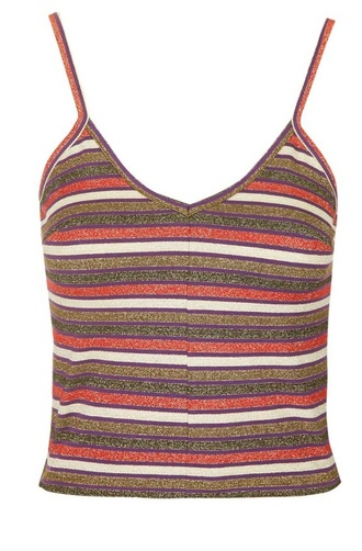 tank top cami multicolor pink grey stripes camisole