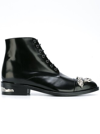 women embellished boots ankle boots leather black shoes