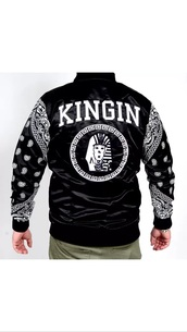 jacket,black,white,last kings,college,dope,swag,gangsta