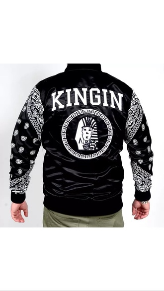 jacket black white last kings college dope swag gangsta
